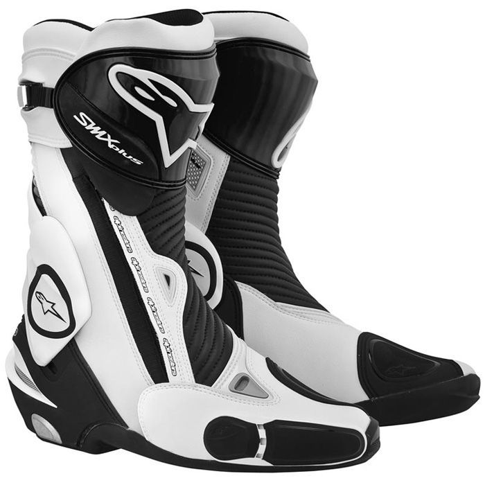 ALPINESTARS SMX PLUS BLACK WHITE