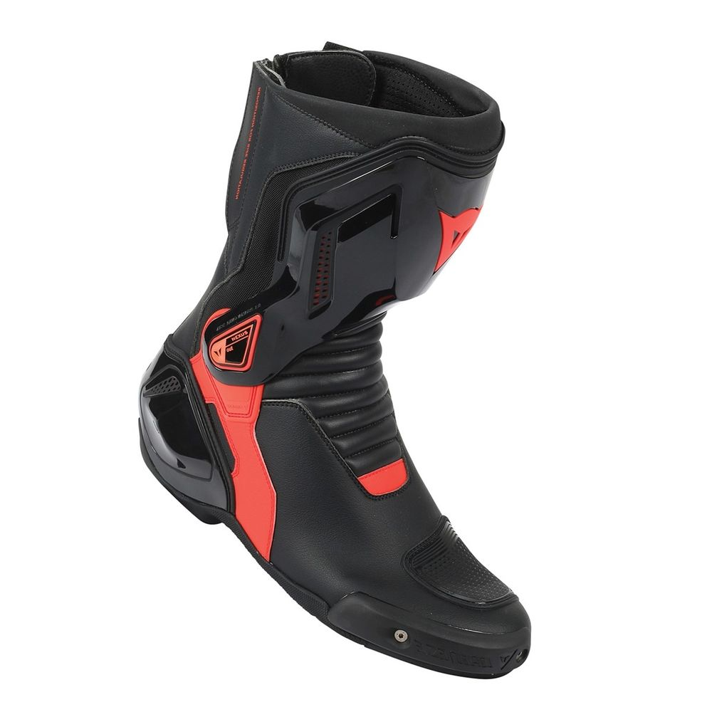 DAINESE NEXUS DERİ BOT BLACK FLUO RED