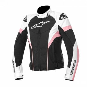 ALPINESTARS STELLA T-GP PLUS R J BLACK WHITE PINK