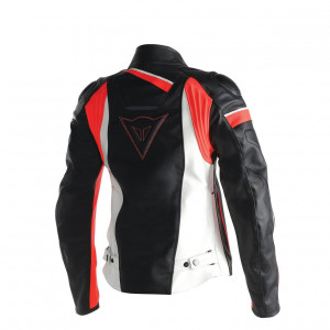 Dainese Veloster Lady Deri Mont Black White Fluo Red
