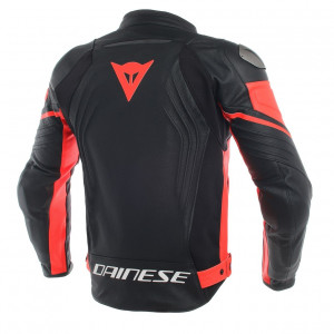 Dainese Racing 3 Deri Mont Black Black Fluo Red